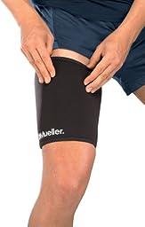 Mueller Thigh Sleeve, Neoprene, Black, Small