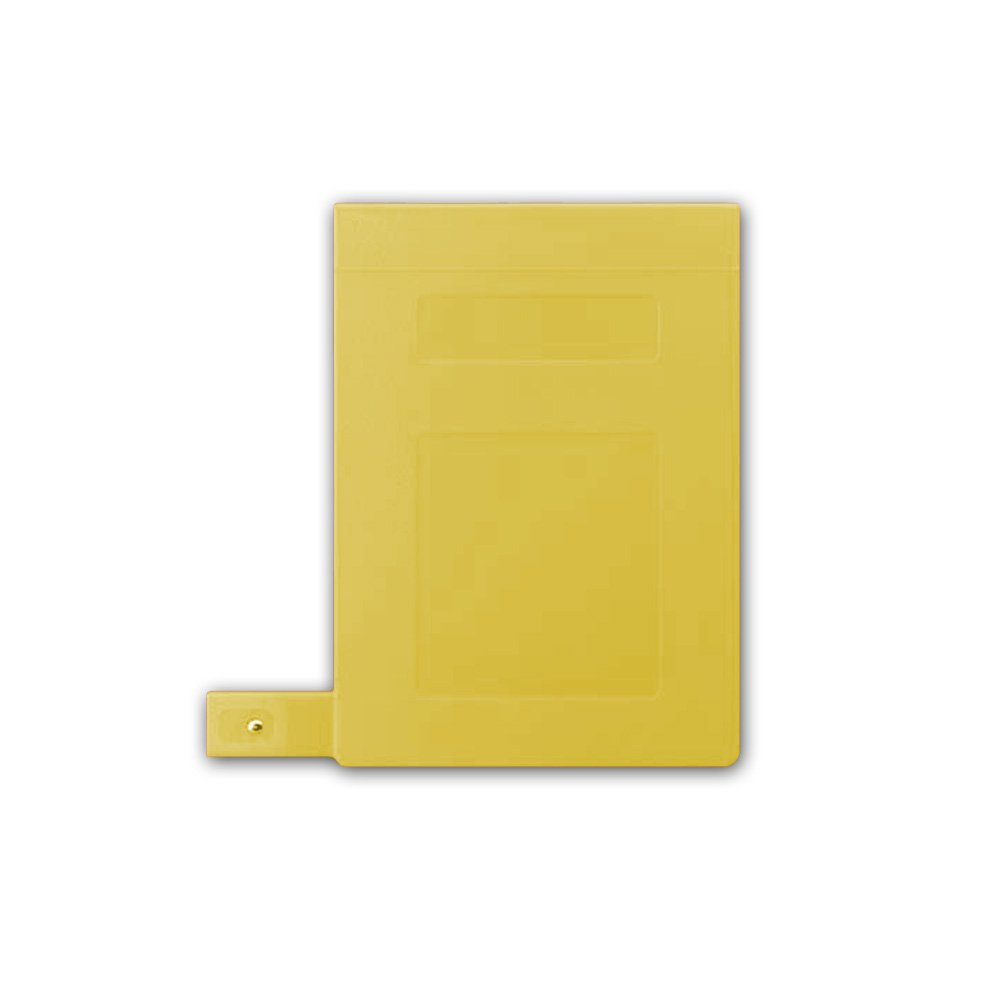 PDC Healthcare CBT16Y Poly Binder, Top Open, 3-Ring, Blank Front, 2'', Yellow