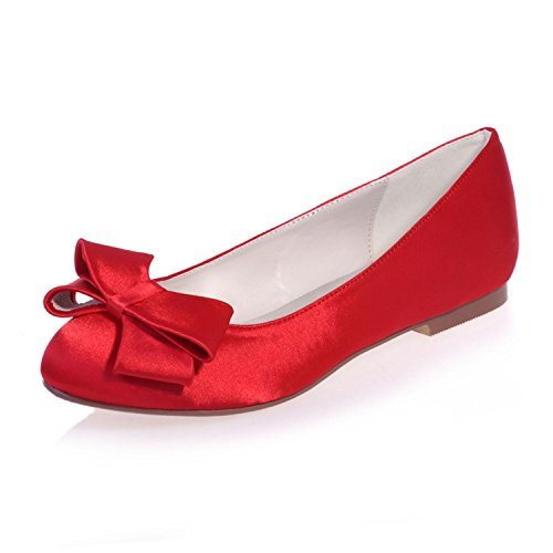 Flats 23 Gown Shoes Party autumn Red Wedding Silk Women's amp; Evening 9872 amp; Night YC Summer Spring L amp; pwETIw