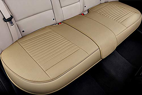 Big Ant Back Seat Covers, Separated Seat Cover PU Leather Back Car Seat Covers Breathable Back Cover Fit for Most Car, SUV, Vehicle Supplies (Beige-Flexible for Different Seat Size) (Best Luxury Suv For 3 Car Seats)