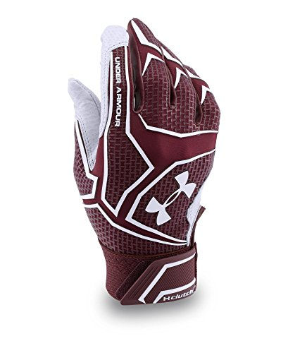 Under Armour Mens UA Yard ClutchFit Baseball Batting Gloves Small Maroon by Under Armour