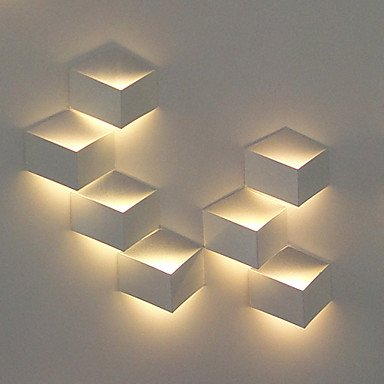 Moderne Wandbeleuchtung 1w moderne led wandleuchte artistic cubic metall shade amazon de
