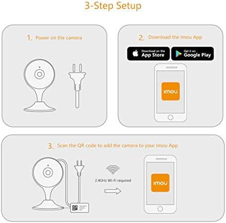 Caméra de sécurité intérieure Imou, caméra IP Wi-Fi 1080P, caméra de surveillance de domicile avancée avec détection des personnes, détection des sons anormaux, audio bidirectionnel et vision nocturne