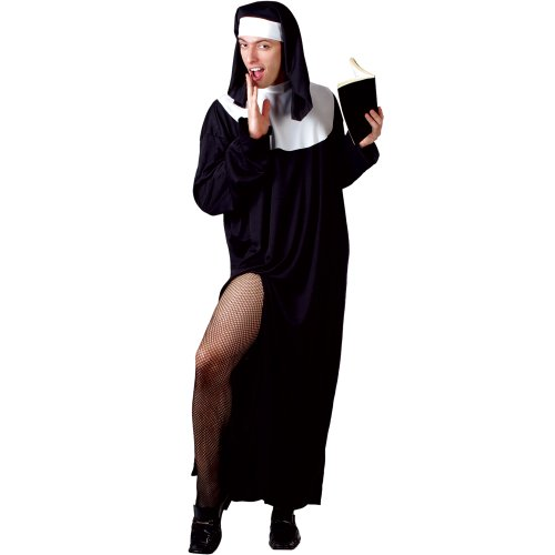 Funny Man Nun Mens Drag Fancy Dress Costume One Size by Wicked Wicked