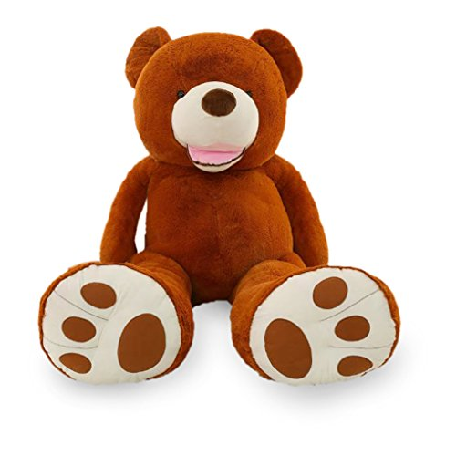[5 FT 63 Inches Stuffed Animal Dark Brown Life Size Huge Teddy Bears With Big Footprints Giant Plush] (Dark Shadows Halloween Costumes)