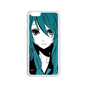 Green hair lovely girl Cell Phone Case for Iphone 6