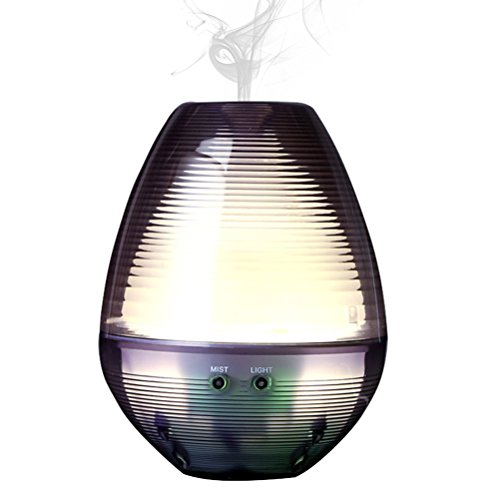 Cool Mist Humidifier, [Upgraded Version] Aroma Essential Oil Diffuser with Adjustable Mist Mode,Low Water Protection, Whisper Quiet with LED Night Light,180ml Portable Ultrasonic Air Humidifiers