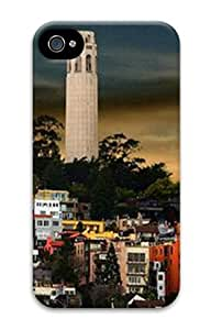 Iphone 4 4s 3D PC Hard Shell Case Coit Tower by Sallylotus