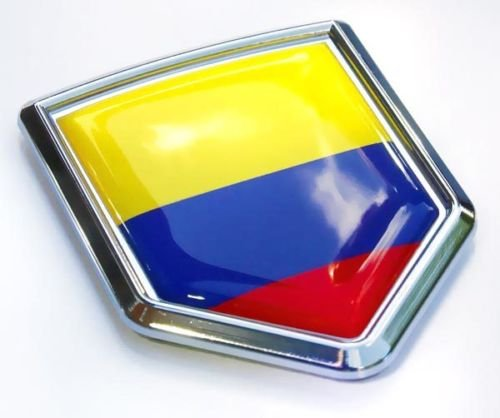 Colombia Flag Colombian Emblem Chrome Car Decal 3D Sticker by Car Chrome Decals CBSHD046