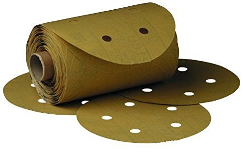 3M 01635 Stikit Gold 6'' P320A Grit Dust-Free Disc Roll