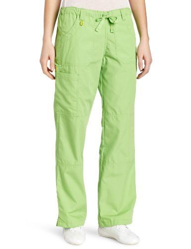 WonderWink Women's Scrubs  Cargo Pant, Green Apple, (Green Elastic Waist Uniform Scrub)