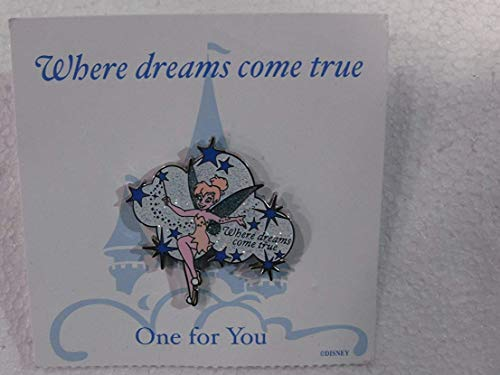 Disney Pin Where Dream Comes True Exclusive Pixie Dust Pin With Tinkerbell