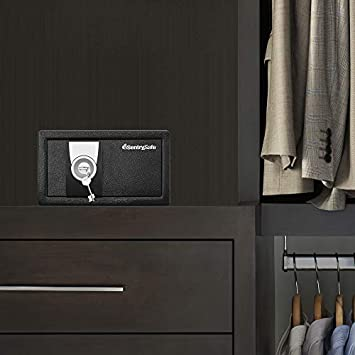 SentrySafe X031 Security Safe with with Key Lock, 0.35 Cubic Feet, Black
