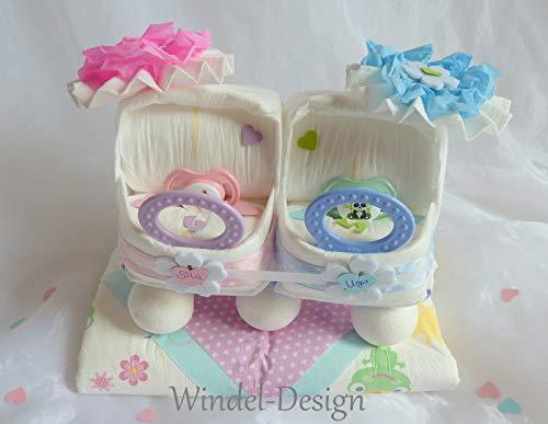 Windeltorte In Rosa Blau Für Jungen Mädchen Zwillinge