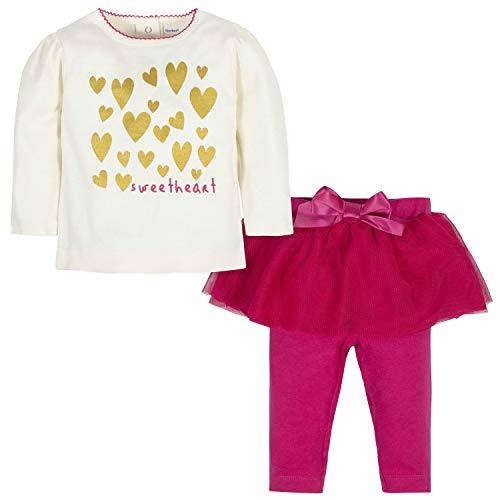 Gerber Baby Girls Shirt and Tutu Legging Set