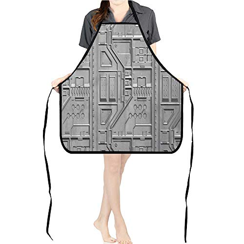Jiahong Pan Durable Kitchen sci fi Wallpaper backgroun Chef Apron for Cooking,Grill and -