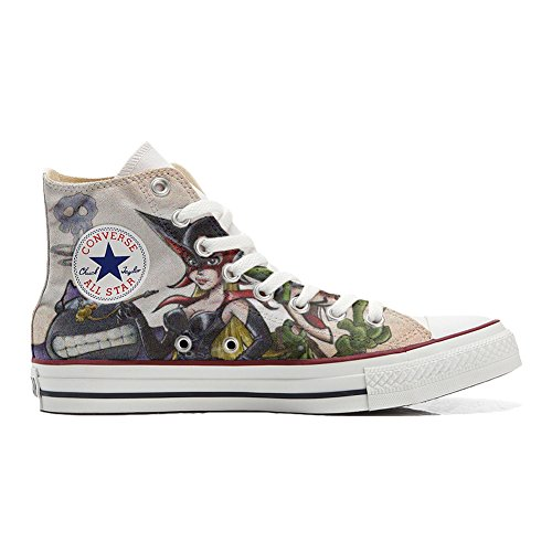 Shoes Custom Converse All Star, personalisierte Schuhe (Handwerk Produkt) Cartoon Old S