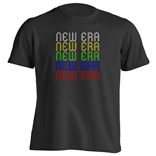 [Retro Hometown - New-Era, MI 49446 - Black - XX-Large - Vintage - Unisex - T-Shirt] (70s Era Clothing)