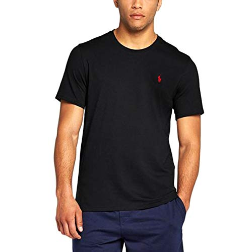 Polo Ralph Lauren Mens Crew Neck T-shirt (Large, Black)