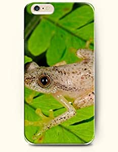 OOFIT Apple iPhone 6 Case 4.7 Inches - Frog Crawling on the Leaf