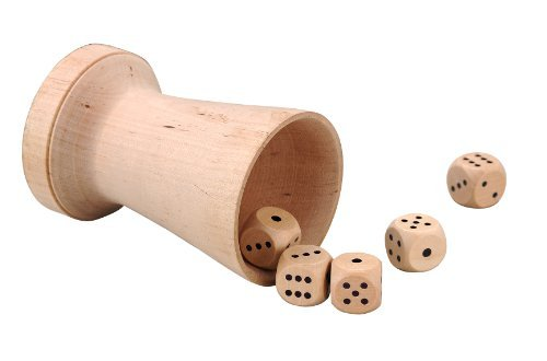 Dice London (Luxury Wooden Dice Cup With 5 Dice - Jaques London by Jaques of London)