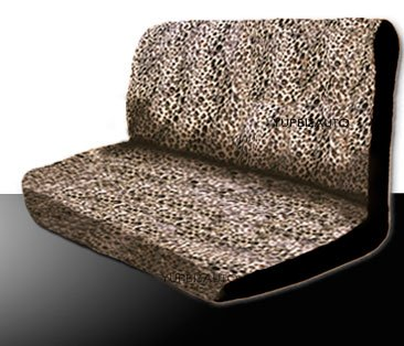 New 14 Pieces Safari Cheetah Print Low Back Front Car Seat Covers Rear Bench Cover