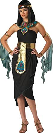 InCharacter Costumes Women's Cleopatra Costume, Black/Gold, Small
