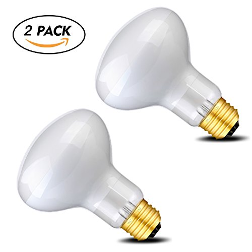 Wuhostam 75W Basking Spot Lamp UVA Glass Heat Bulb Soft White Light for Reptile Tortoise Lizard, 2 Pack by Wuhostam