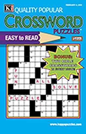 Quality Popular Crossword Puzzles Jumbo: Amazon com: Magazines