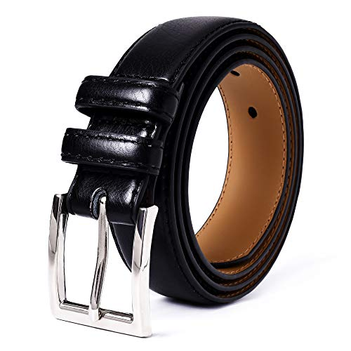 Mile High Life | Genuine Leather | Classic Dress Belt | Width 1 1/4