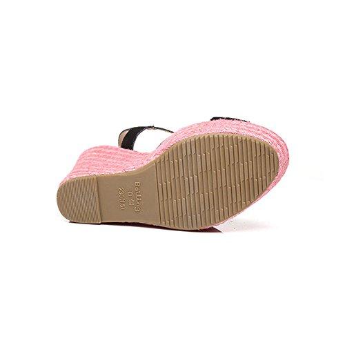 9cm Eu39 Femenina Zapatos Romano Cuñas 9cm Sandalias uk6 9 12 cn39 Tejer Impermeable Colorblock Helada Plataforma Verano Cm Femeninos Amazing color Hierba Estilo Tamaño Cm qxEww71H0