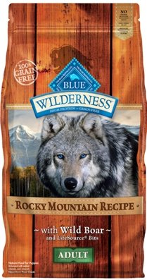 "WILDERNESS ROCKY MOUNTAIN BOAR 4LB ""Ctg: OTHER PET FOODS - BLUE BUFFALO DOG DRY"""