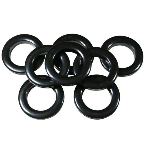 "Home Sewing Depot #10 Plastic Grommet, 1 3/8"", 8 Sets, Black"