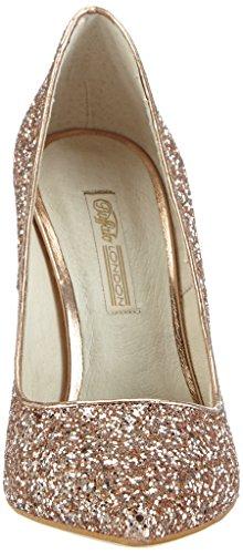 Buffalo London11335-269 GLITTER - zapatos de tacón cerrados Mujer Beige - Beige (SALMON 01)