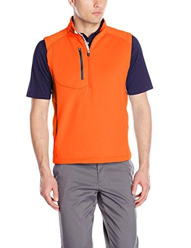(Zero Restriction Men's Z500 1/4 Zip Vest, Flame/Navy, Large)