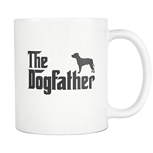 Staffordshire Bull Terrier DogFather Coffee Mug Funny for sale  Delivered anywhere in USA