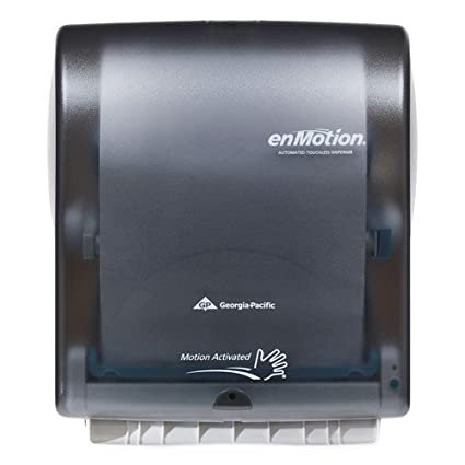 georgia pacific enmotion 59462 classic automated touchless paper towel dispenser translucent smoke - Paper Towel Dispenser