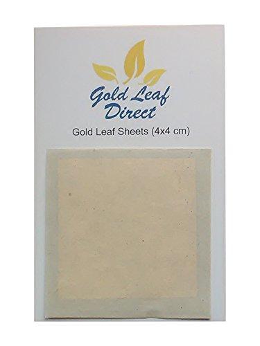 Blattgold auf Papierbogen, 24K Gold, 10 Stück