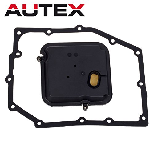 (AUTEX 42RLE Transmission Filter Kit pan gasket Compatible With Jeep Liberty & Wrangler/Dodge Dakota & Durango & Magnum & Nitro & Charger & Chrysler 300 52852913AB)