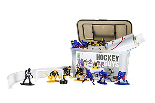 Kaskey Kids Rangers vs Bruins NHL Hockey Guys Action Figure Set - 27 Pieces and Accessories -