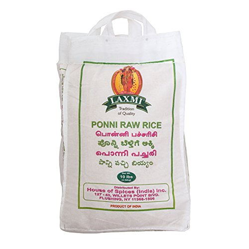 Laxmi All-Natural Ponni Boiled (Like Gold) Rice, 10 Pounds