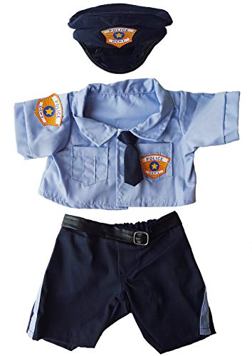 "Police Uniform Outfit Teddy Bear Clothes Fits Most 14"" - 18"" Build-a-bear and Make Your Own Stuffed Animals  from Stuffems Toy Shop"