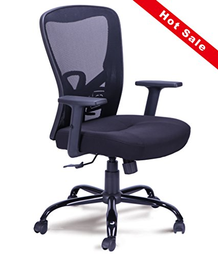 Fuhe Mid Back Mesh Ergonomic Computer Desk Office Chair Adjustable Lumbar Support