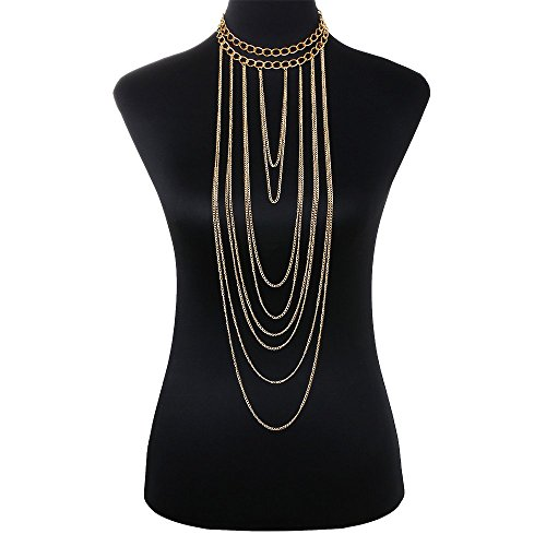 DOTASI Gothic Plated Chains Necklace