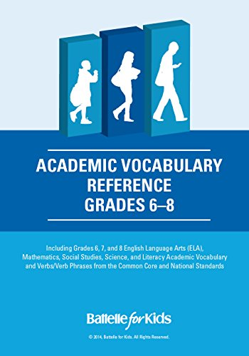 Academic Vocabulary Reference, Grades 6-8: a Teacher Planning Tool with Academic Content, Verbs, and Verb Phrases From the Common Core and National Standards