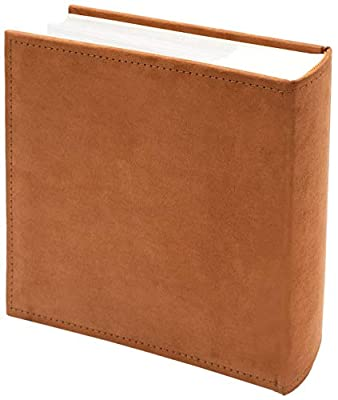 Golden State Art, Photo Album Scroll Embossed Faux Leather Cover, Holds 200 4x6 Pictures (Classic A09 Collection)