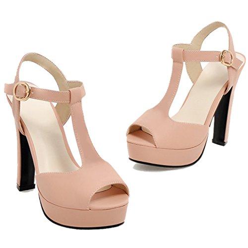 Heels High ENMAYER Casual Pink Sandals Dace Womens Fashion Dress Classical qwBBx0Yp6