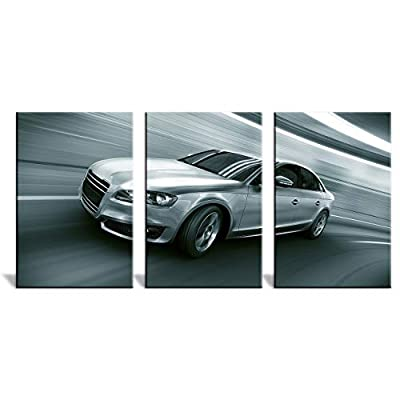 3 Panel Car Moving at High Speed x 3 Panels 16