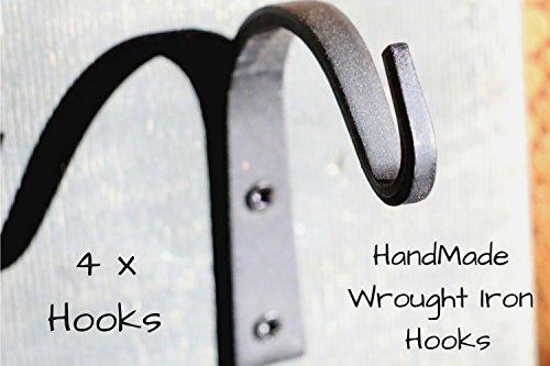 Wrought Iron Coat Hook - 4