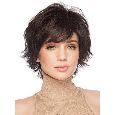 corto mujer Cabello marrón para las mujeres de pelo falso sintética cortas pelucas